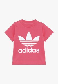 adidas Originals - TREFOIL TEE - Print T-shirt - real pink/white - 0