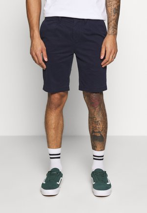 SLIM WASH PLEATED - Shorts - night sky