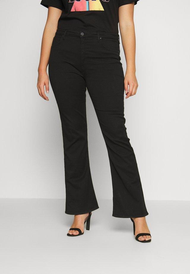 BOOTCUT - Bootcut jeans - black