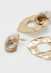 Topshop - HAMMERED CIRCLE DROPS - Oorbellen - gold-coloured - 3