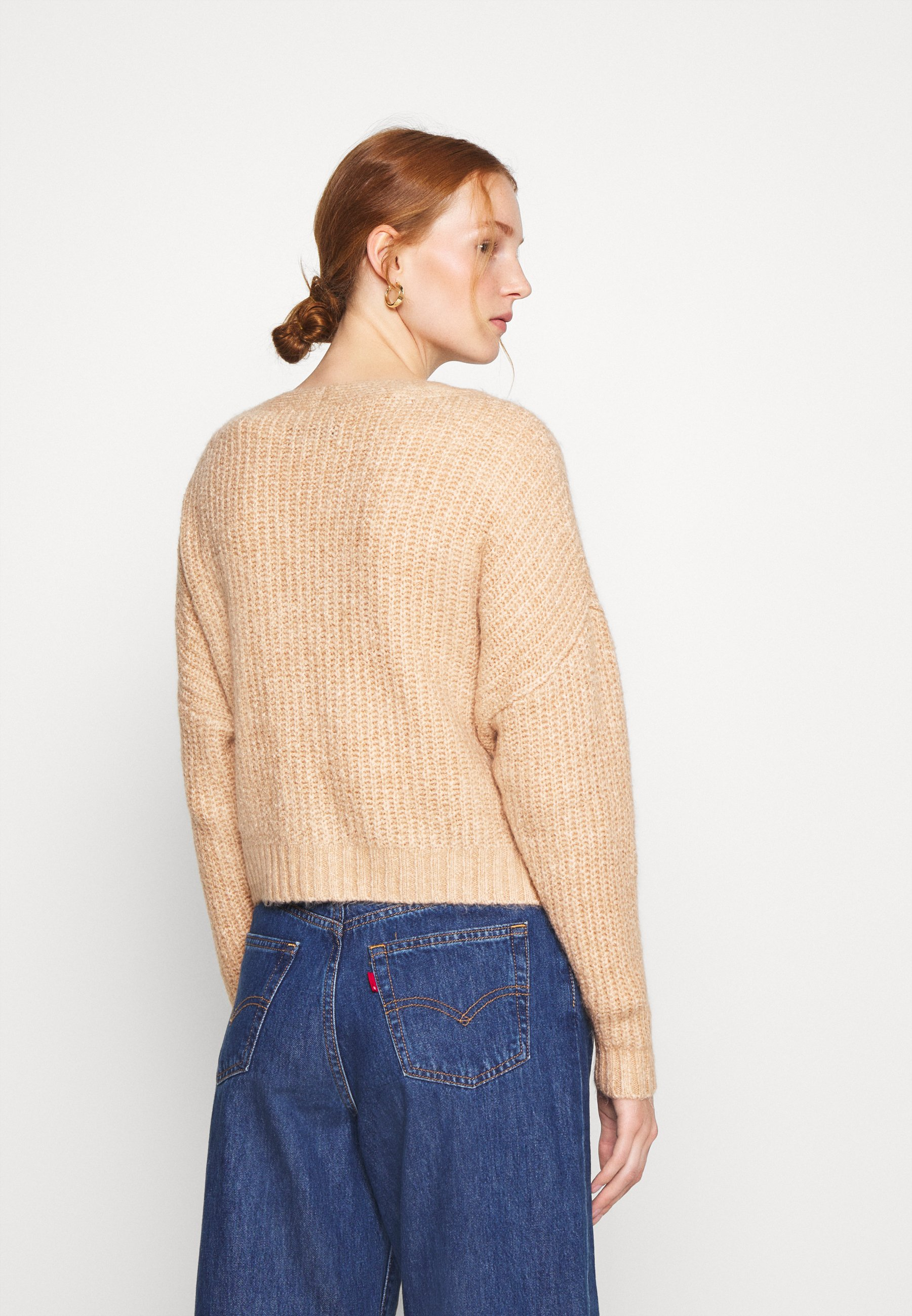 Zign Cropped chunky cardigan - Cardigan - cuban sand qrOez