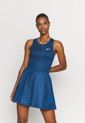 DRESS - Sports dress - obsidian/white
