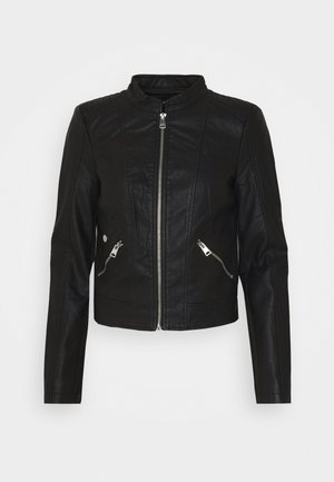 VMKHLOE  FAVO COATED JACKET PETITE - Faux leather jacket - black