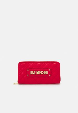 QUILTED CONTINENTAL ZIP WALLET - Wallet - rosso