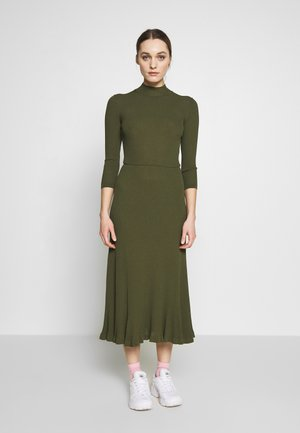 WRAP DRESS - Vestido largo - dark olive