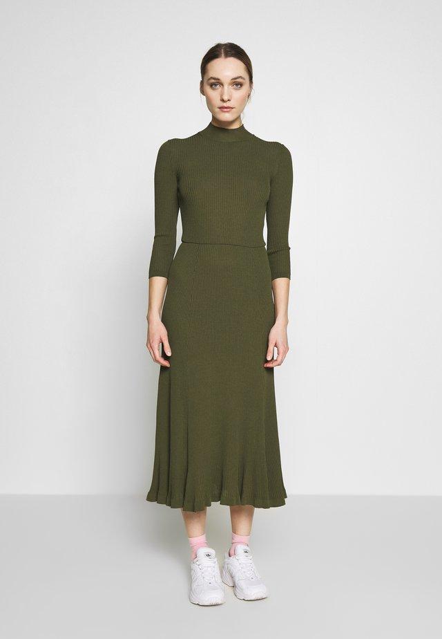 WRAP DRESS - Maxi dress - dark olive