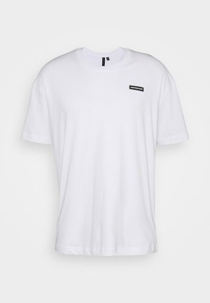 ESSENTIAL WITH RUBBER BADGE - Basic T-shirt - white