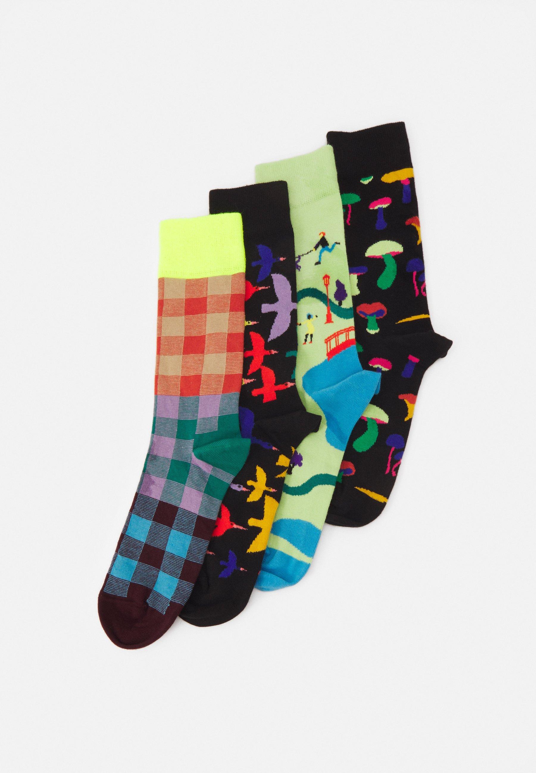 Men INTO THE PARK 4 PACK UNISEX - Socks