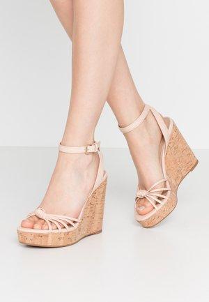 KAOEDIA - Sandály na vysokém podpatku - light pink