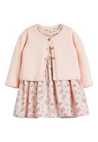 Next - PINK FLORAL PROM DRESS AND CARDIGAN SET (0MTHS-3YRS) - Cardigan - pink - 0