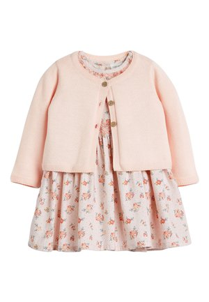 PINK FLORAL PROM DRESS AND CARDIGAN SET (0MTHS-3YRS) - Cardigan - pink
