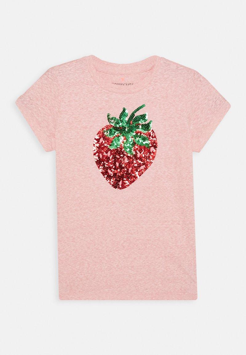 J.CREW - SEQUIN STRAWBERRY GRAPHIC TEE - Print T-shirt - pink melange