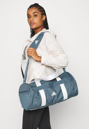ESSENTIALS 3 STRIPES SPORT DUFFEL BAG UNISEX - Sportstasker - legblu/legblu/white
