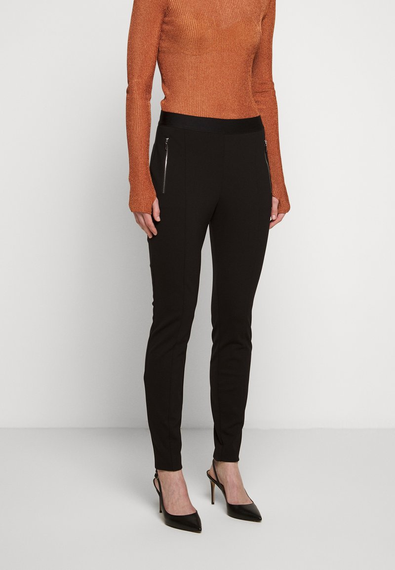HUGO - HALELI - Leggings - Trousers - black