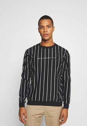 PLIN 2TONE CREW - Sweatshirt - black