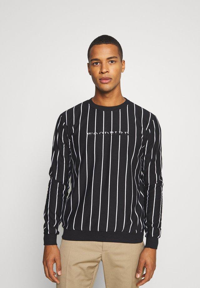 PLIN 2TONE CREW - Sweater - black