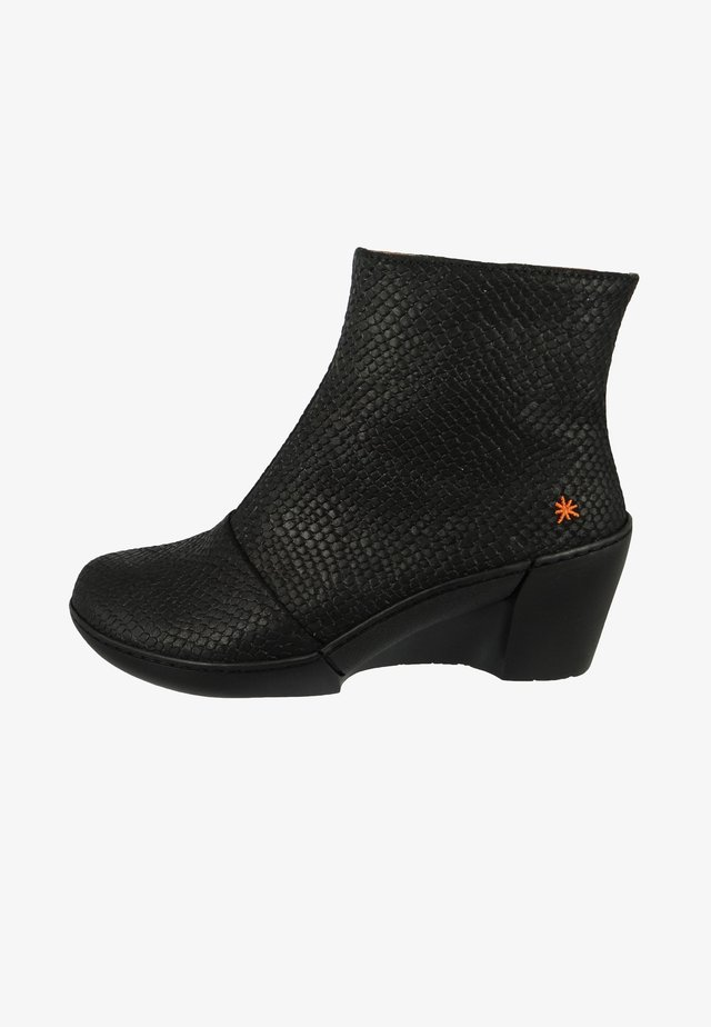 Wedge Ankle Boots - piton black