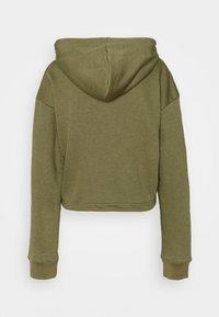 Missguided Tall - CROP ZIP HOODY JOGGER SET - Zip-up hoodie - khaki - 3