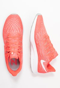 Nike Performance - AIR ZOOM PEGASUS  - Zapatillas de running estables - laser crimson/white/light smoke grey - 1