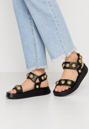 VLILCAN - Platform sandals - black