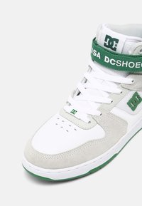 DC Shoes - PENSFORD - High-top trainers - white/grey/green - 6