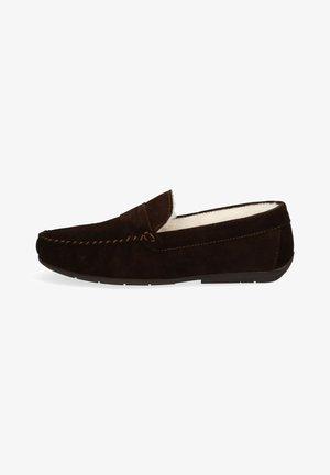 Slippers - donkerbruin