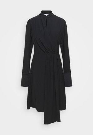 DRAPED FLUID CADY MINI DRESS - Day dress - black