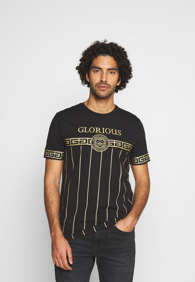 DEBRIS  - T-shirt con stampa - black