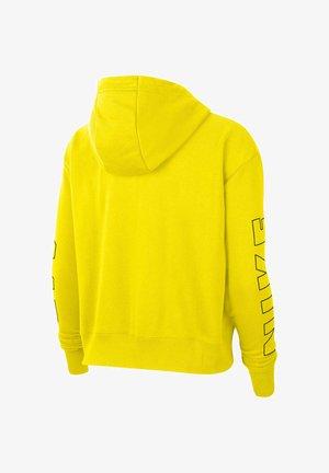 Hoodie met rits - yellow