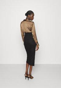 Mossman - THE RUNNING BACK SKIRT - Pencil skirt - black - 2