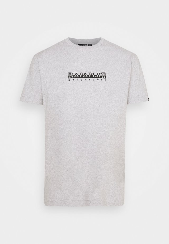 BOX UNISEX - Print T-shirt - light grey mel