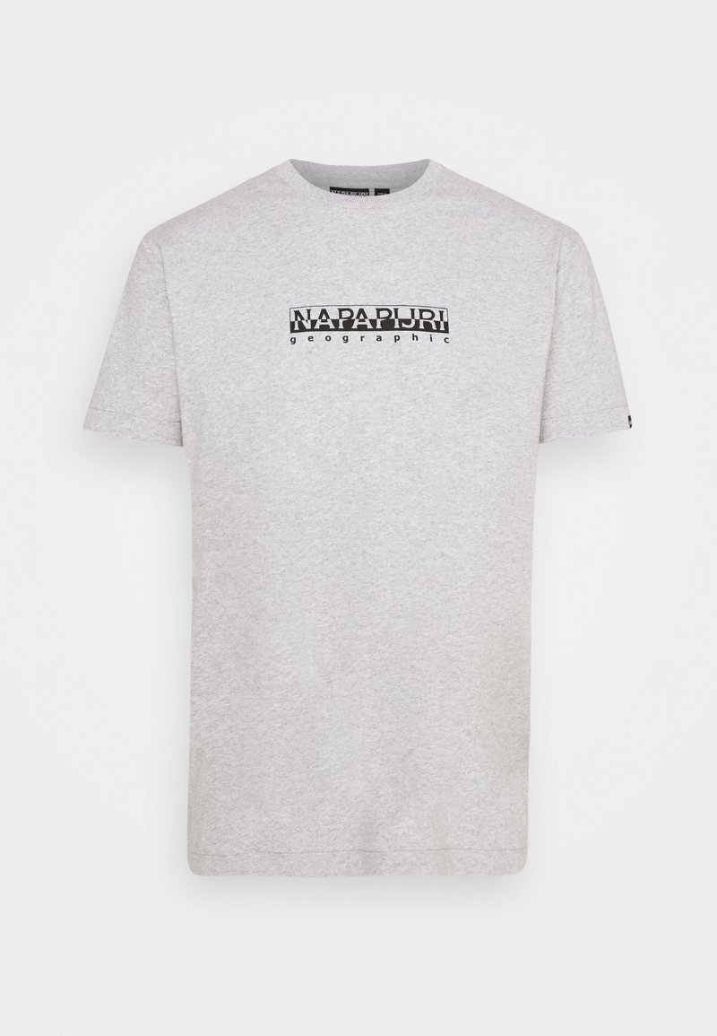 Napapijri The Tribe - BOX UNISEX - T-shirt imprimé - light grey mel