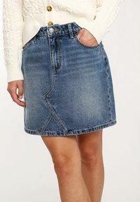 Pimkie - A-line skirt - blue denim - 3