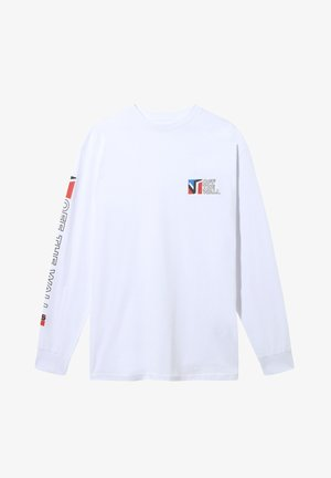 MN DIMENSIONS LS - Print T-shirt - white