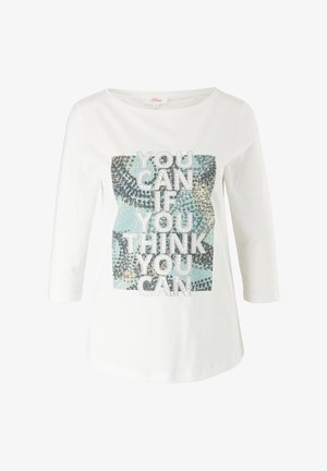Print T-shirt - offwhite placed artwork