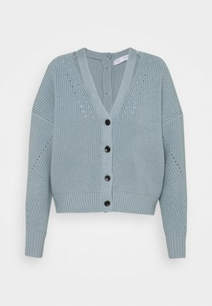 CARDIGAN BUTTON BACK - Cardigan - steel blue