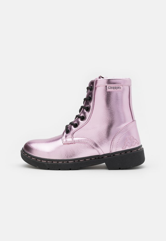 DEENISH SHINE UNISEX - Bottines à lacets - rosé/black