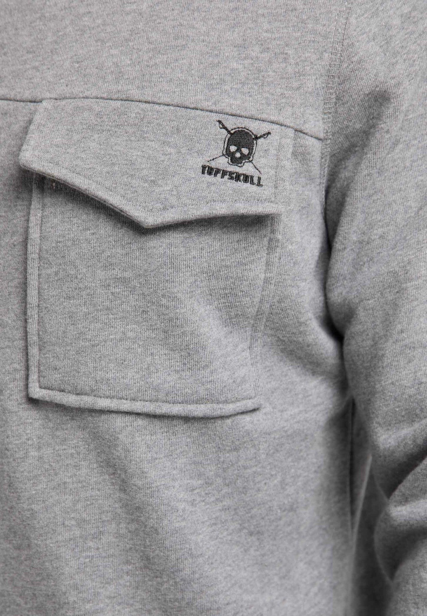 Tuffskull Sweater - Grey Melange