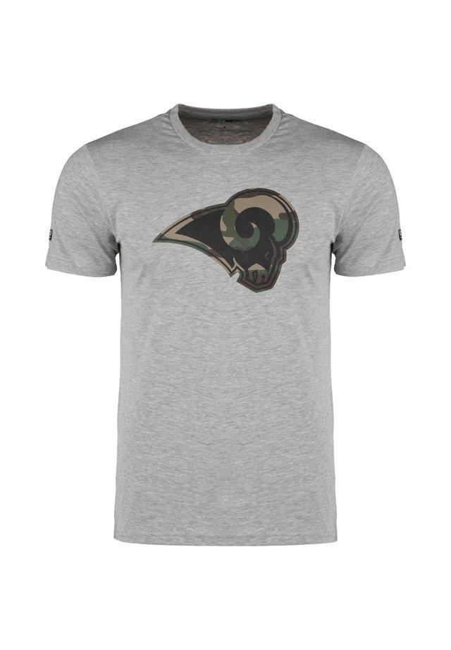 NFL LOS ANGELES RAMS CAMO LOGO T-SHIRT HERREN - T-shirt imprimé - light grey heather