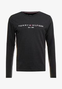Tommy Hilfiger - LONG SLEEVE LOGO - Long sleeved top - black - 4