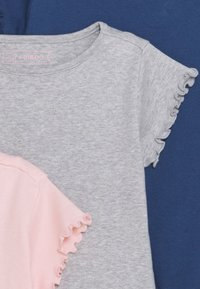 Friboo - 3 PACK - T-shirt basic - dark blue/pink/grey - 3