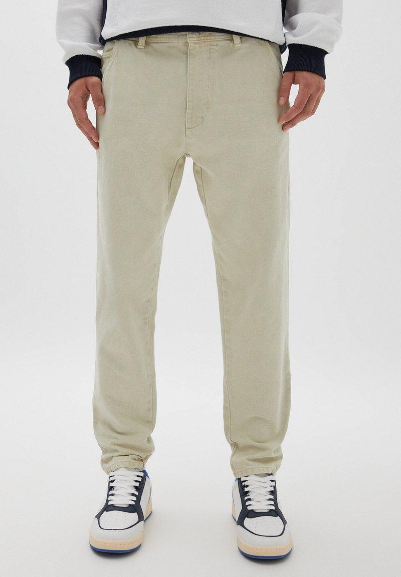 PULL&BEAR - Straight leg jeans - mottled beige