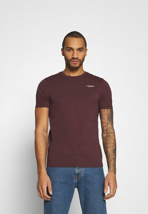 TEXT SLIM - Print T-shirt - dark fig