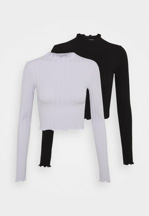 BLAZE 2 PACK - Long sleeved top - purple/black