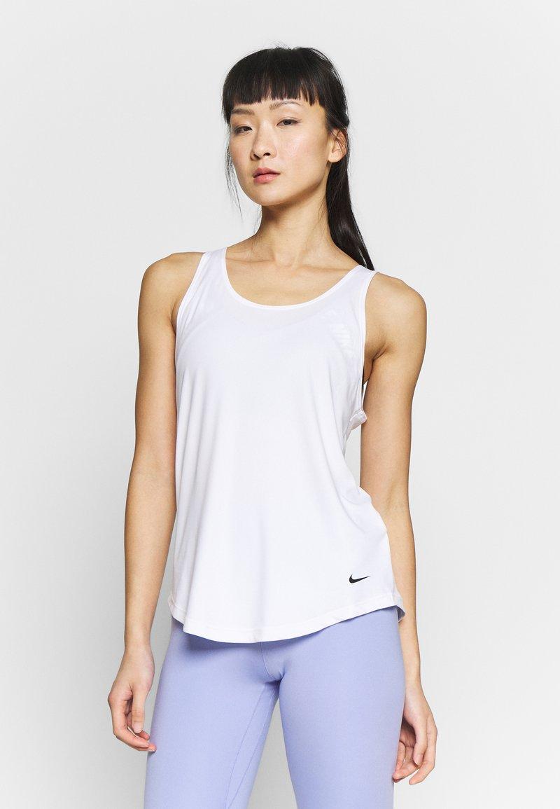Nike Performance - DRY VICTORY ELASTIKA TANK - Sportshirt - white/black