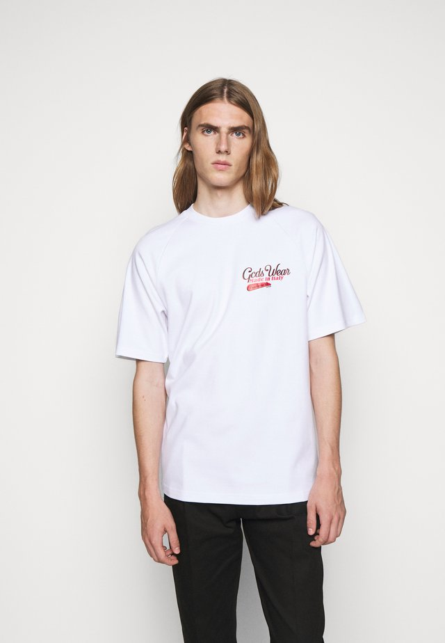 SANFORIZED TEE - Print T-shirt - white/red