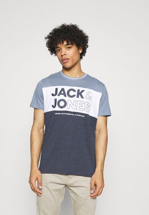 JJARID TEE CREW NECK - T-shirts print - faded denim