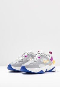 Nike Sportswear - M2K TEKNO - Sneakersy niskie - light smoke grey/photon dust/vivid purple/laser orange/hyper blue/summit white - 4