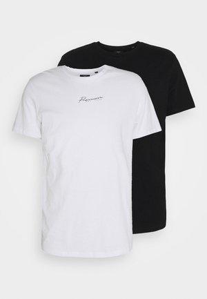 JPRBLASTAR TEE 2 PACK - T-paita - white/black