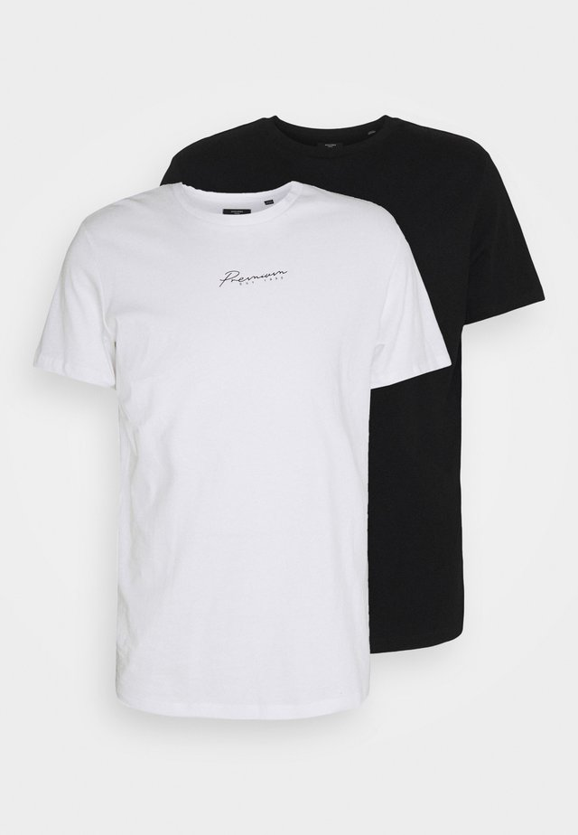 JPRBLASTAR TEE 2 PACK - T-shirts basic - white/black